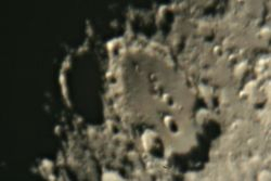 8 day old Moon on 12 February 2011
