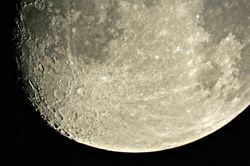 Waxing Gibbous Moon on 14 February 2011