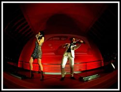 FUSE Violin Duo Linzi Stoppard with Ben Lee  Perform For Iveco
