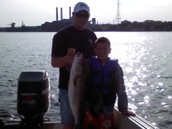 Me & Mitch first striper of the year May 16th 2010