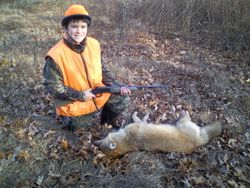 Mitchell w/ coyote