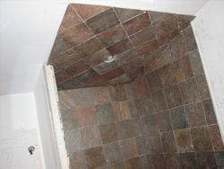 Walk-in shower, ceiling
