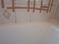 Water damaged bathroom