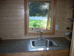 Bar sink installed.