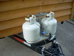 Outside view of Propane tanks