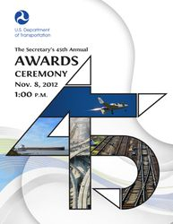 Department of Transportation Award Cover