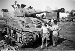 Sherman firefly in Bondeno