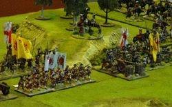General Hamilton surveys the front line