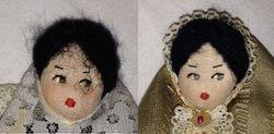 Souvenir doll both faces