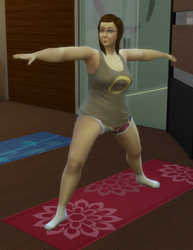 Kenleigh doing yoga