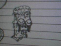 Dead Bart drawing