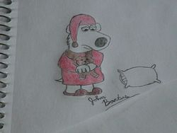 Sleepy Brian Griffin in Pajamas :3