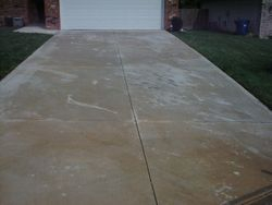 Driveway after cleaning