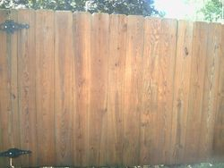 Fence after cleaning