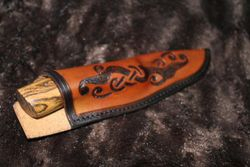 custom hand made knife & sheath