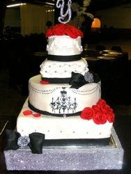fancy changelier wedding cake