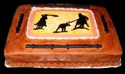 cowboy grooms cake