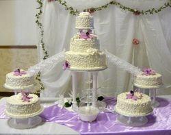 fancy scroll wedding cake