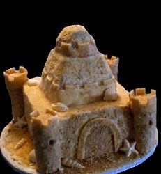 sand castle wedding