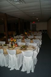 Upper deck Table set up