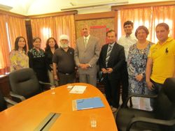 Indanes and AICSD board members with Indian Ambassador in Denmark