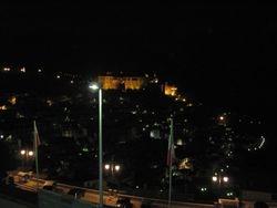 Castello lit at night over Muro Lucano