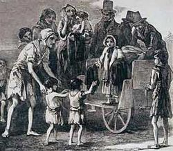 Famine scene
