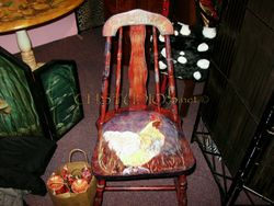 Hand Painted Le Poulet Kitchen Chair