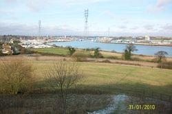 Ipswich from the Orwell Bridge