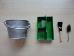 Bucket, brushes and caddy