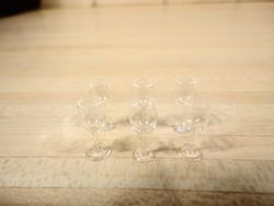 Six sherry glasses