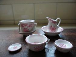 Stokesay Ware Persian Rose wash set