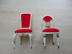 Two styles of dining chair