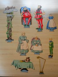 """Characters and stage props for """"Jack and the Beanstalk"""""""