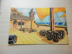 "Scenery backdrop for ""Sinbad the Sailor"""