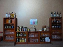 The bar shelves