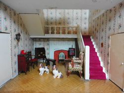The hall, with dogs