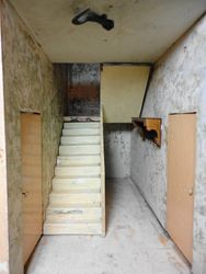 Back hall and service stairs