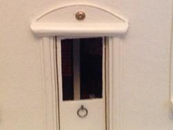 Front door, restored