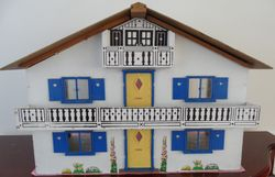 Tyrolean Dolls House, 1972 (Barclay Toy Group). Dimensions:  23 inches [58.5 cm] wide, 10 inches [25.5 cm] deep and  22 inches [56 cm] high.