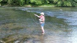 artist fly fishing N Georgia