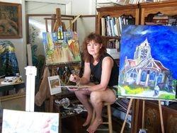 Artist paints Vincent Van Gogh