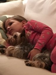 Snuggled up