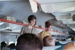 Continental Flight to USA  4-10-1967