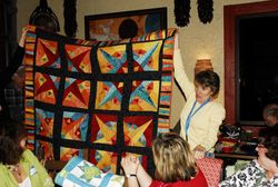 Danielle's Rays and Blooms quilt