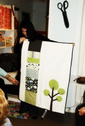 Kelly's Tres Mod Baby Quilt