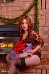 Nisha by the Fireplace