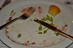 What was left of the Salad plate