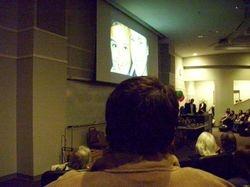 John watching Julia Burke Award video