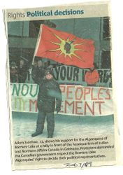 Adawa Protesting For Barrier Lake Algonquins